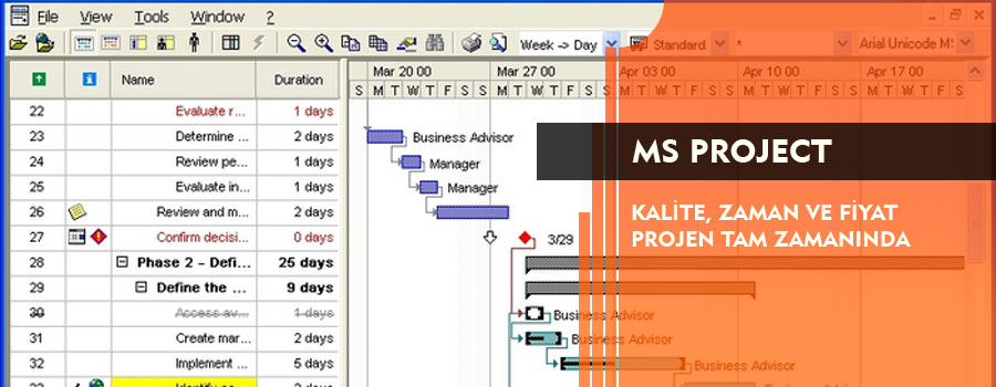 MS Project Kursları